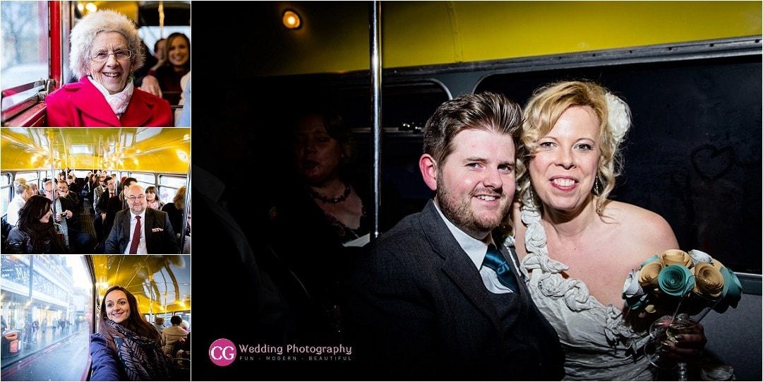 London Bus Wedding Photography