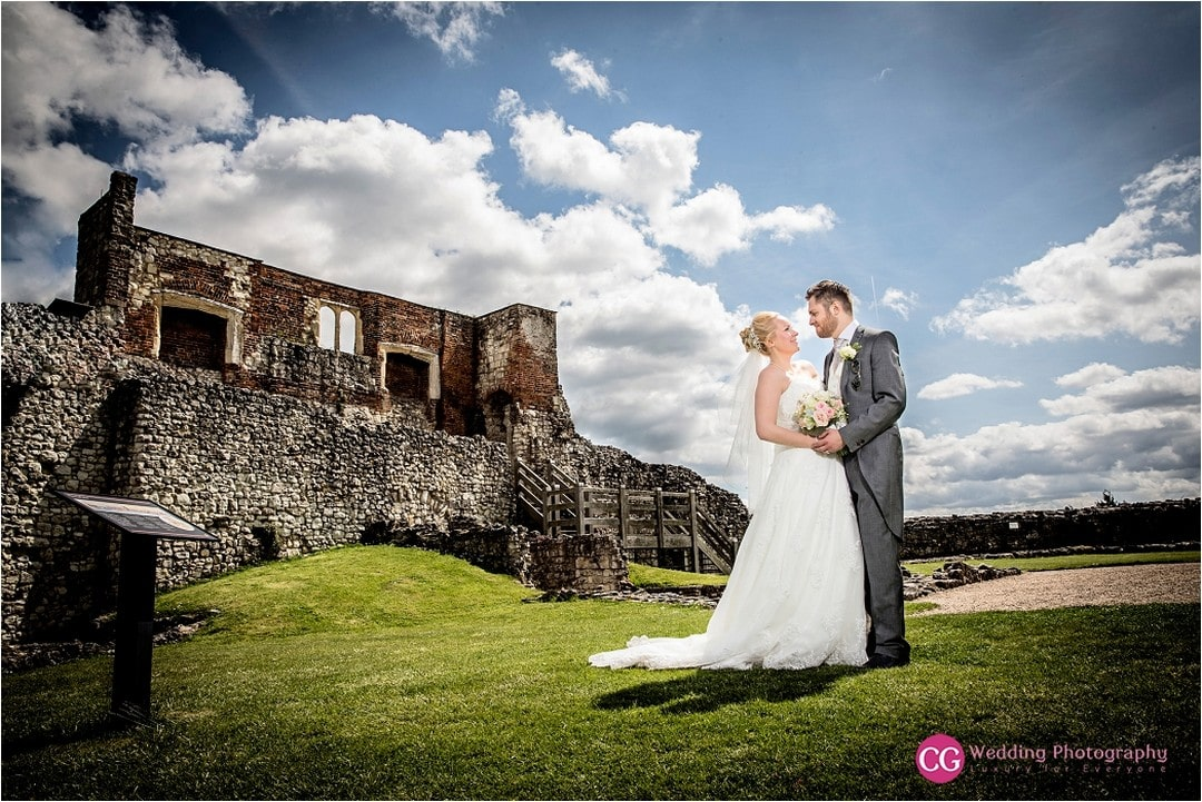Stunning couple getting married at Farnham Castle