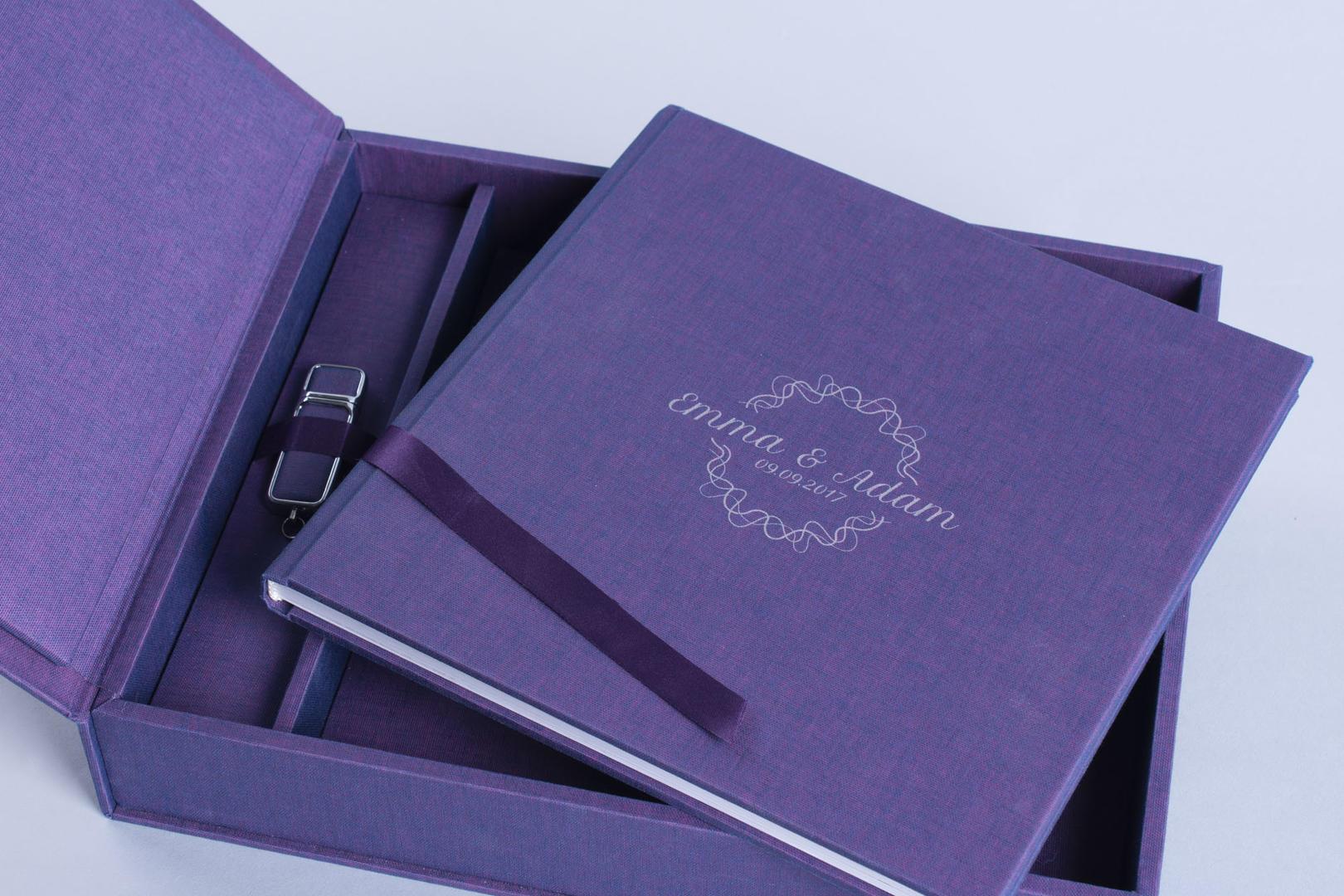 Complete Album Set Photo Album Album Box USB Stick Flash Drive 3 in 1 Gamma collection cover pattern UV print laser etch
