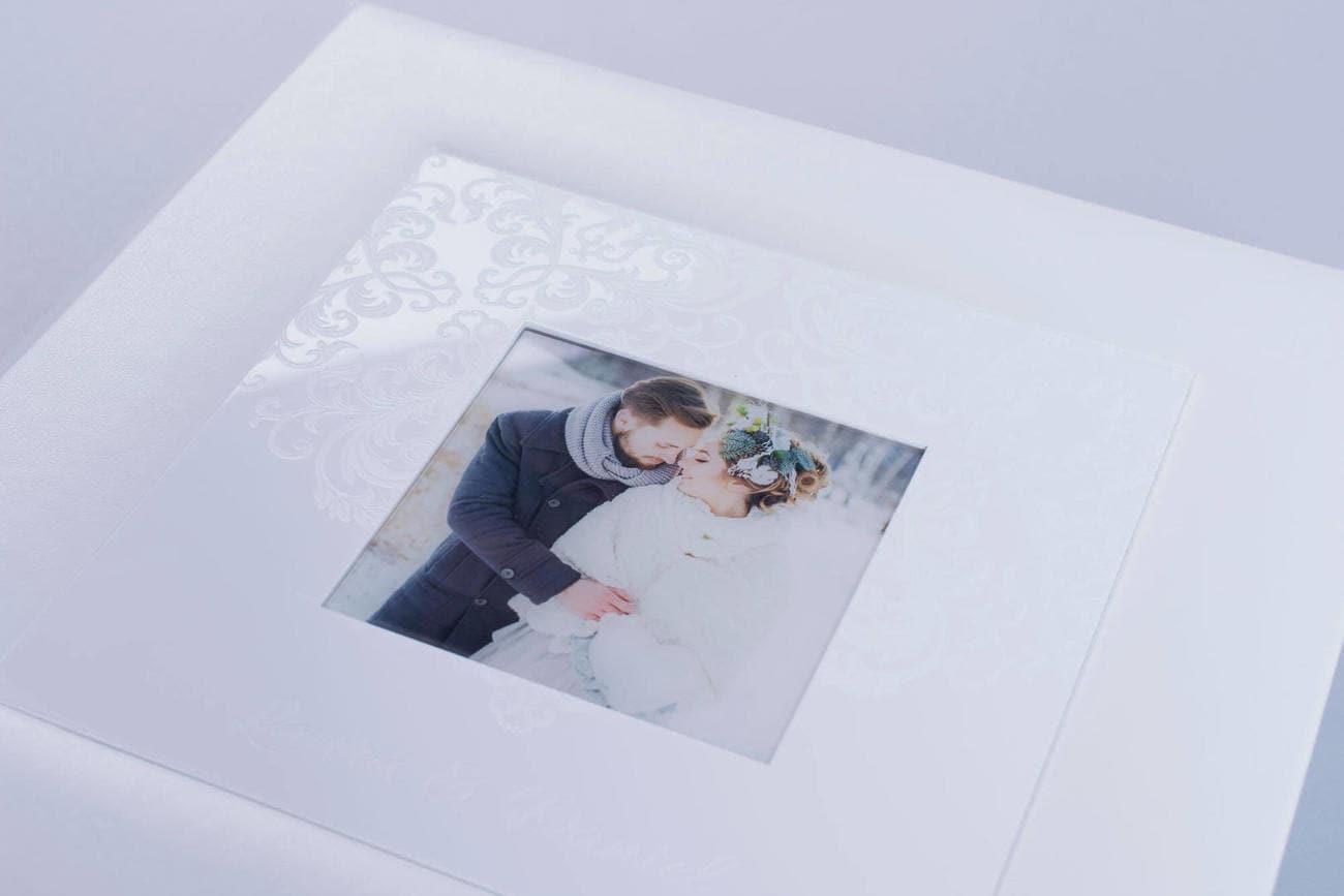White Lady ewhite acrylic cover wedding photo album luxury handcrafted printing lab hardcover nphoto snow white leather professional photographer